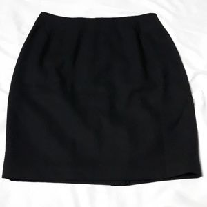 Wool Black Mini Skirt Business Ellen Tracy